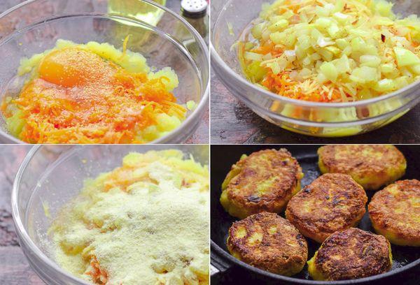 Рецепт тыквенных котлет с картофелем