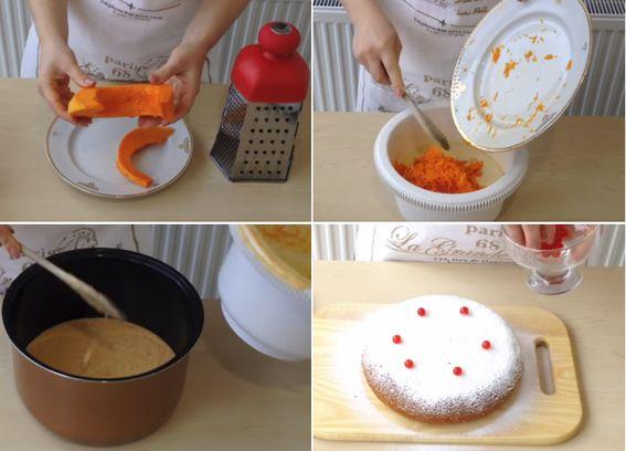 Приготовление пирога с тыквой