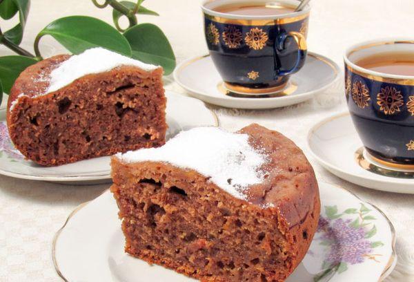 тыквенный пирог в мультиварке с какао