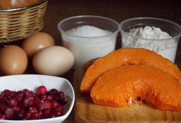 Ингредиенты для клюквенного пирога