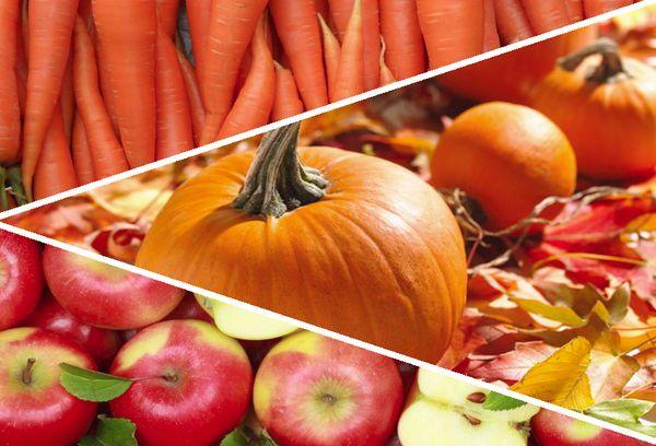 Тыква, яблоко и морковь