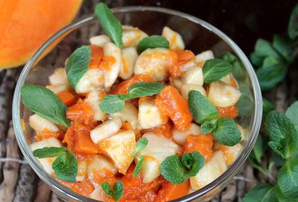 Фруктовый салат с тыквой