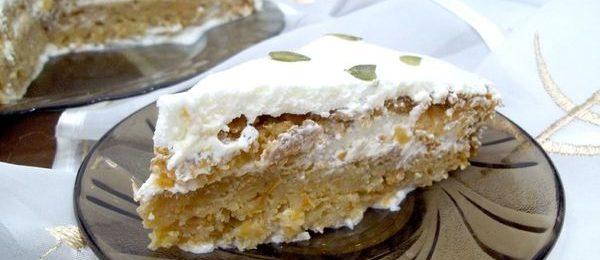Бисквитный тыквенный торт