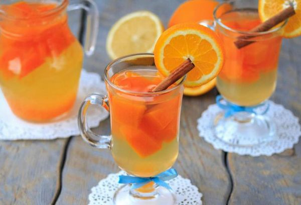 Апельсиново-тыквенный напиток