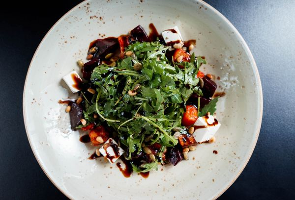 Свекольный салат с тыквой