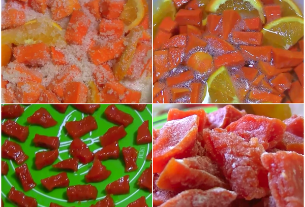 Тыквенные цукаты с апельсином