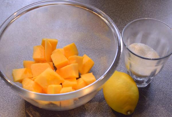 Тыквенно-лимонная карамель