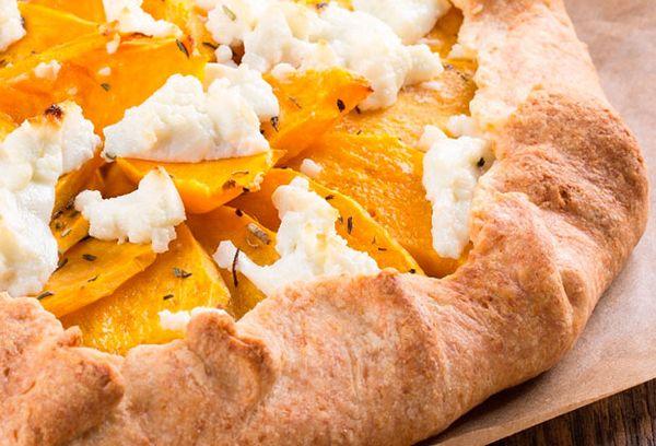 Пирог с тыквой и брынзой