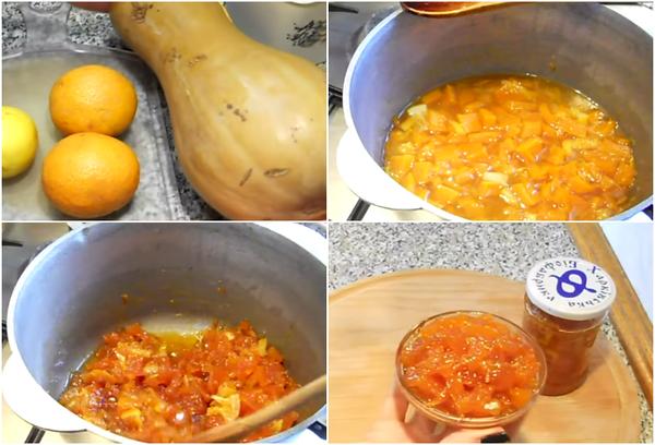 Тыквенное варенье с апельсинами