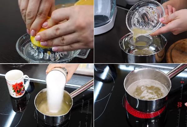 Приготовление сиропа с лимоном